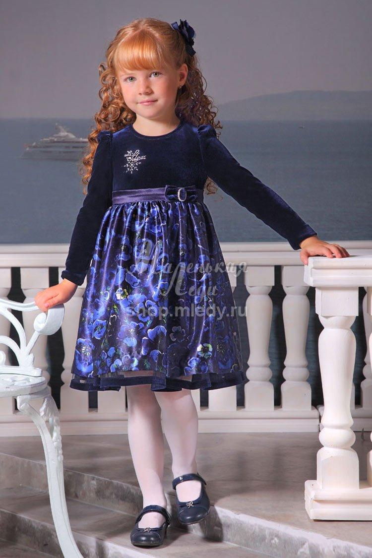 Платье из бархата девочке сшить 89